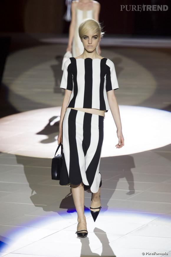Vue sur les podiums : la tendance rayures      Marc Jacobs, défilé Printemps-Eté 2013