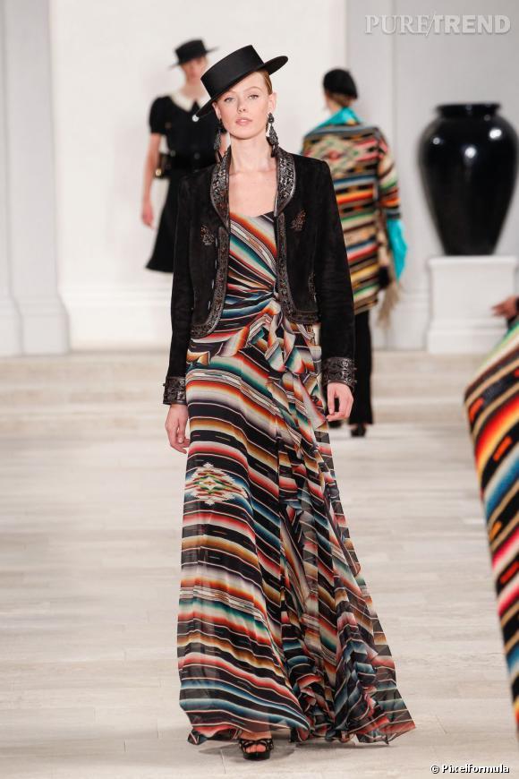 Vue sur les podiums : la tendance rayures      Ralph Lauren, défilé Printemps-Eté 2013