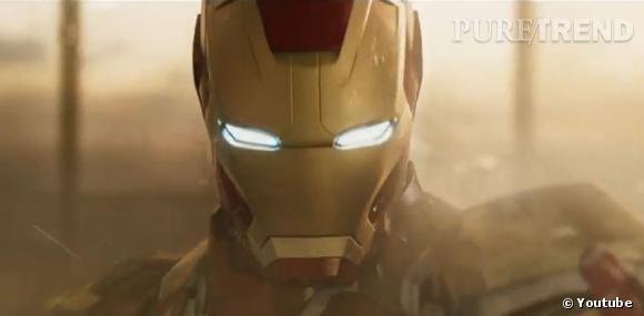 """Robert Downey Jr. incarne de nouveau Iron Man dans """"Iron Man 3"""", plus sombre et explosif que jamais."""