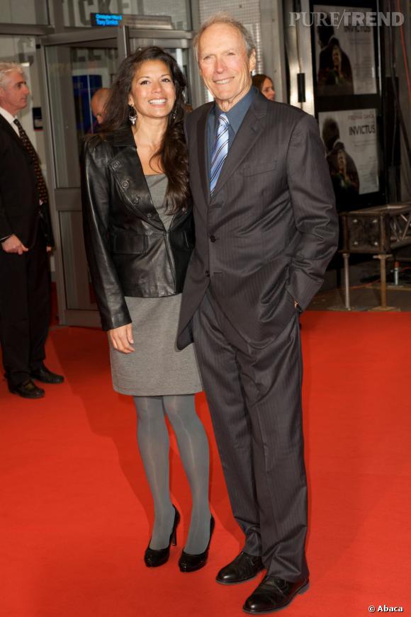 Clint Eastwood et sa femme Dina, combien d'années d'écart ? 35 ans.