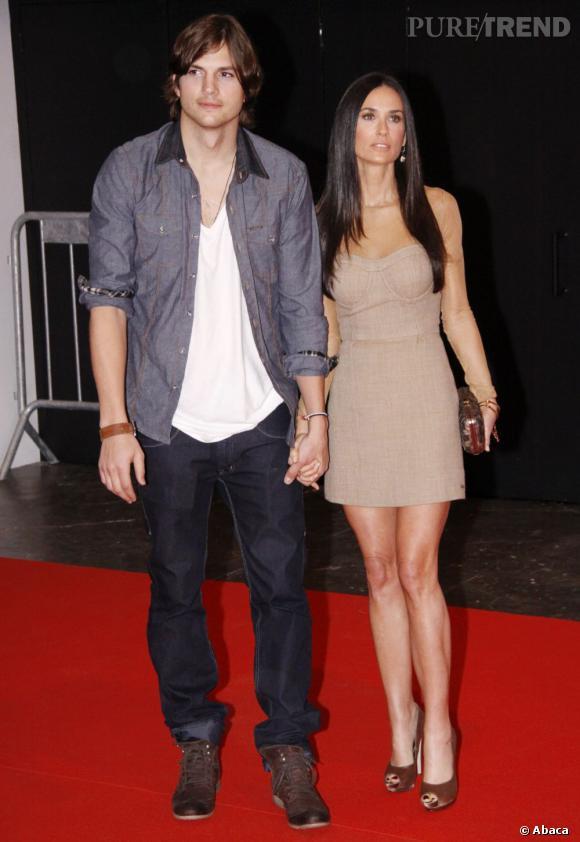 Demi Moore et Ashton Kutcher, combien d'années d'écart ? 15 ans.