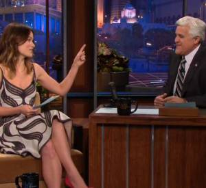 "Olivia Wilde sur le plateau de l'émission ""The Tonight Show with Jay Leno""."