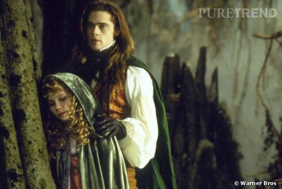 """""""J'ai trouvé ça dégoûtant"""" confie Kristen Dunst au magazine Bullet concernant son baiser avec Brad Pitt dans le film de 1994 """"Entretient avec un vampire""""."""
