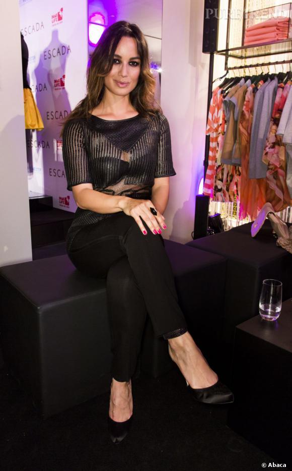 Bérénice Marlohe lors de l'ouverture de la boutique Escada à Berlin.