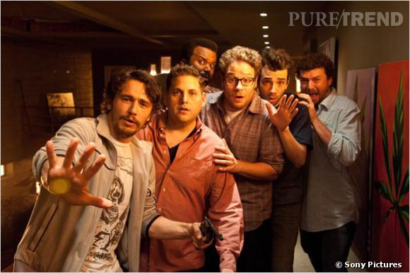 "Craig Robinson, Danny McBride, James Franco, Jay Baruchel, Jonah Hill et Seth Rogen, un casting de potes pour un film qui dépote, ""This is The End""."