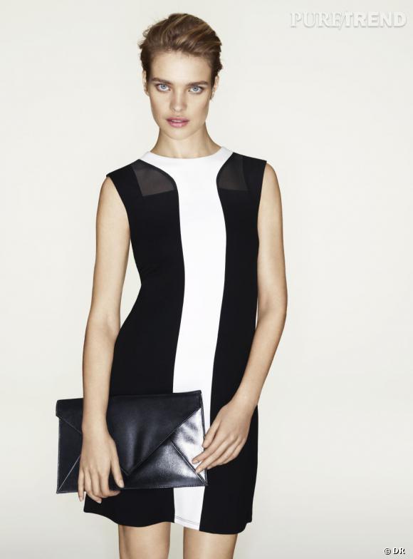 Tendance shopping graphique noir et blanc : le bon look à copier      Etam par Natalia Vodianova, collection Printemps-Eté 2013