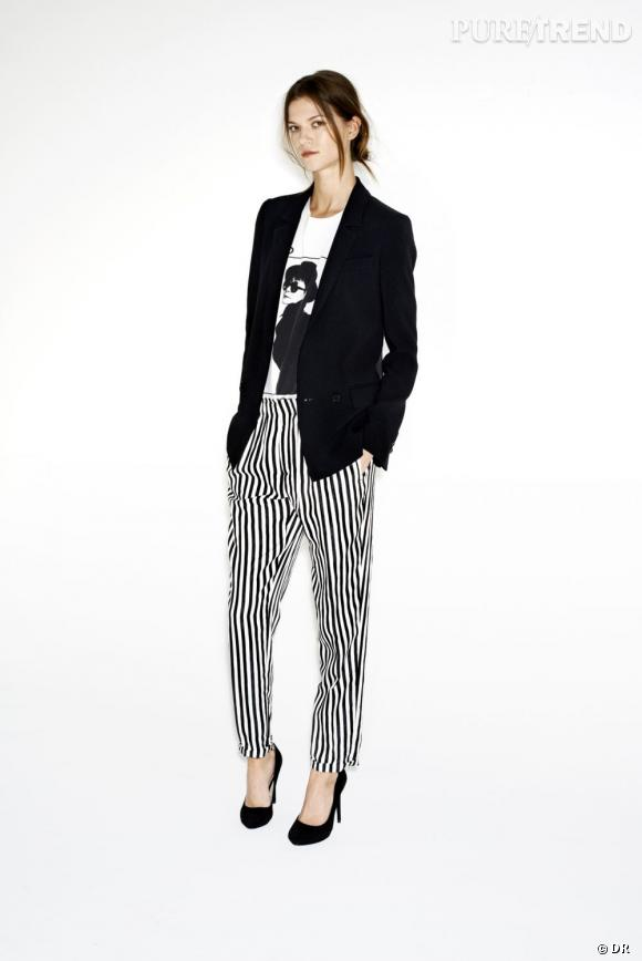 Tendance shopping graphique noir et blanc : le bon look à copier      Zara, collection Printemps-Eté 2013