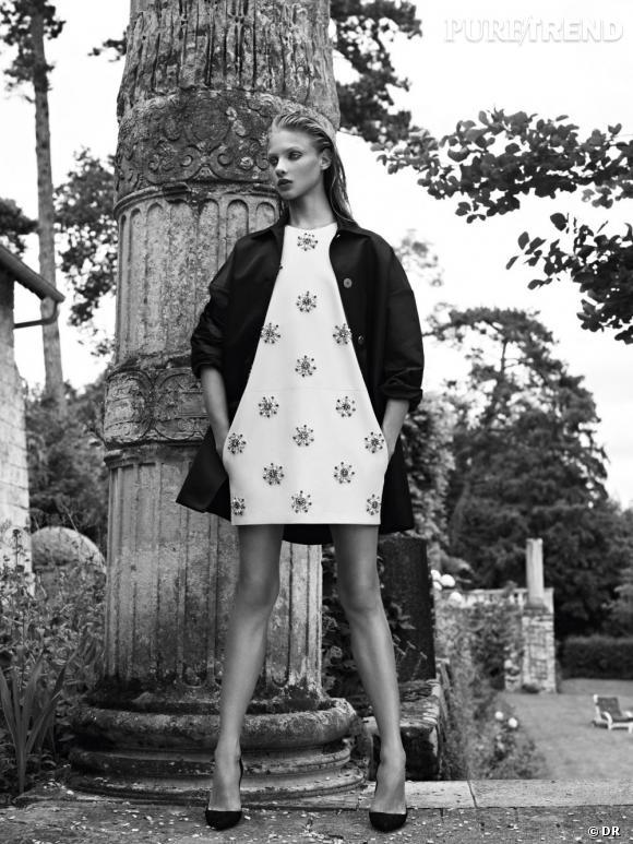 Tendance shopping graphique noir et blanc : le bon look à copier      Pierre Balmain, collection Printemps-Eté 2013