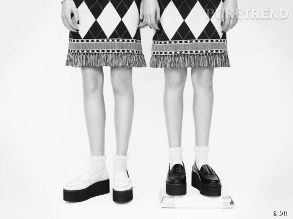 Tendance shopping graphique noir et blanc : le bon look à copier      JW Anderson x Topshop, collection Printemps-Eté 2013