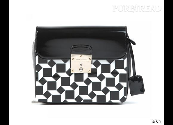 Tendance shopping graphique noir et blanc : le bon shopping       Sac The Licorice, Marc Jacobs, 1650 €
