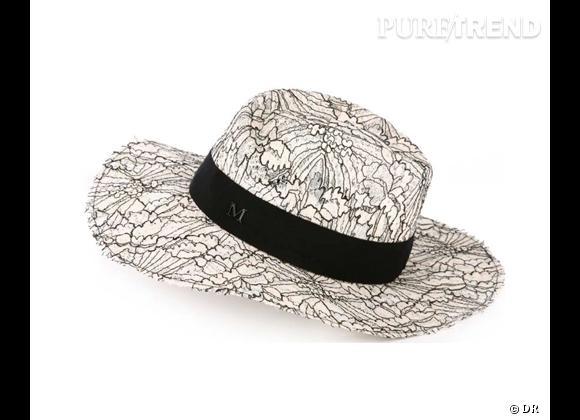 Tendance shopping graphique noir et blanc : le bon shopping      Chapeau Maison Michel, prix sur demande