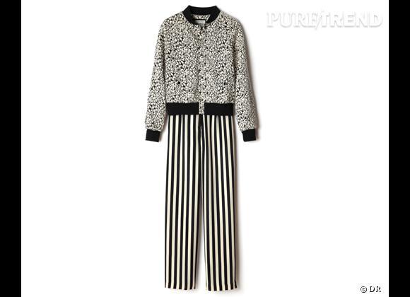 Tendance shopping graphique noir et blanc : le bon shopping      Teddy Pepe Jeans et pantalon American Retro, 129 et 165 € aux Galeries Lafayette