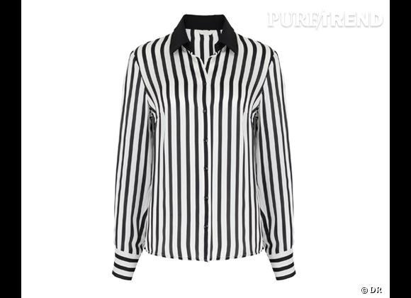 Tendance shopping graphique noir et blanc : le bon shopping      Chemise Marks & Spencer, 43,95 €