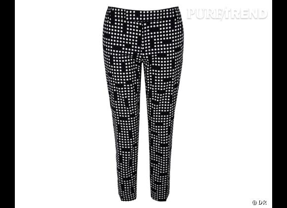 Tendance shopping graphique noir et blanc : le bon shopping      Pantalon Gap, 39,95 €