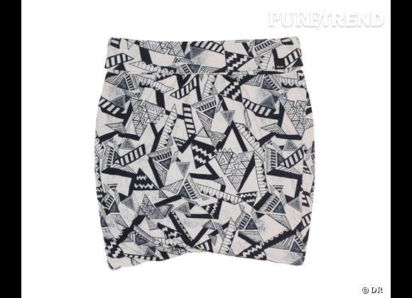 Tendance shopping graphique noir et blanc : le bon shopping      Jupe Bench, 20 €