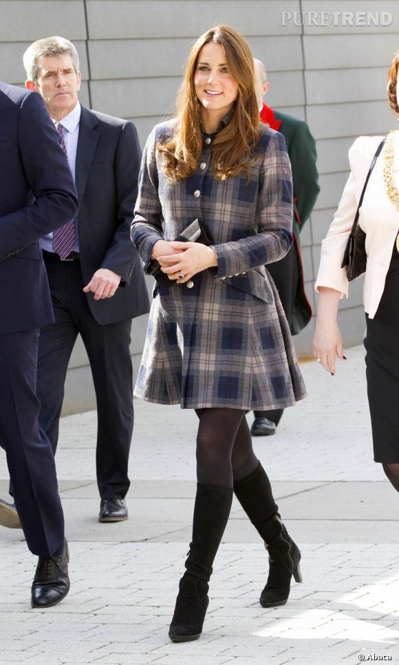 Kate Middleton en visite officielle à Glasgow.