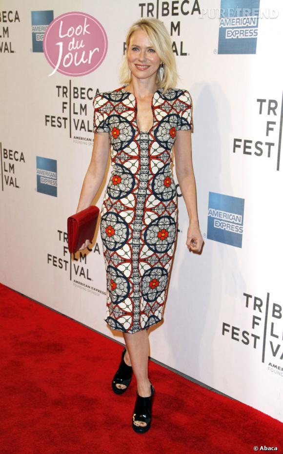 """Naomi Watts à la première mondiale de son film """"Sunlight Jr."""" au Tribeca Film Festival au théâtre BMCC/TPAC à New York, le 20 avril 2013."""