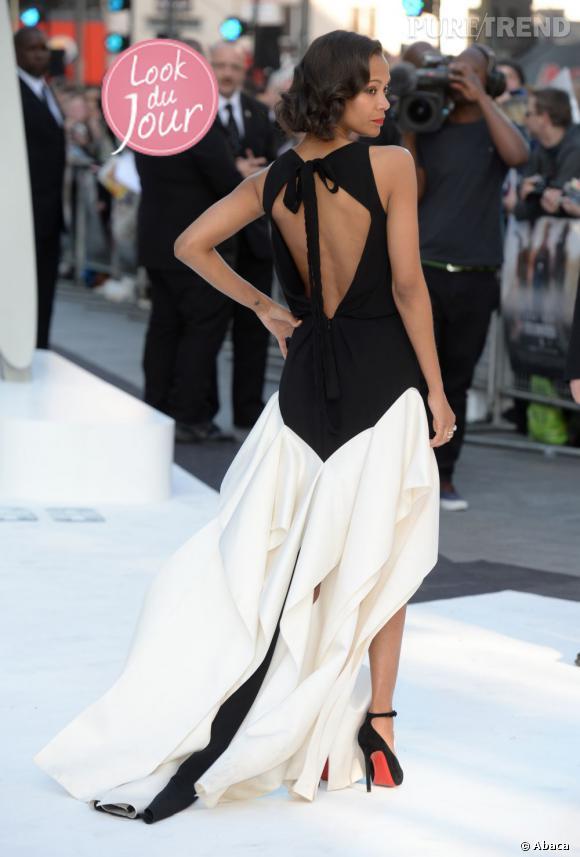 """Zoe Saldana sur le red carpet de la première de """"Star Trek Into Darkness"""" à Londres."""