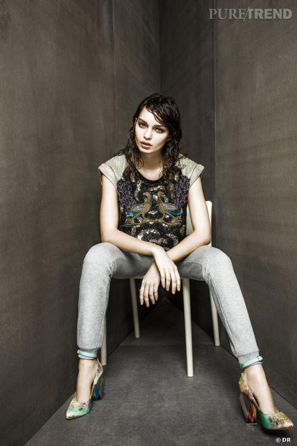 Urban Outfitters collection Printemps-Eté 2013 : silhouettes coups de coeur Top April May, pantalon A.P.C, shoes Miista