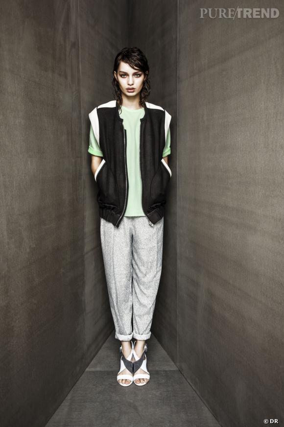 Urban Outfitters collection Printemps-Eté 2013 : silhouettes coups de coeur    Pantalon Carin Wester, t-shirt Cheap Monday, veste Iro, shoes Surface to Air