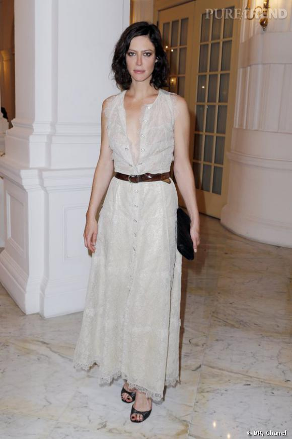 """Anna Mouglalis lors de la projection privée du court-métrage """"Once Upon a Time"""" de Karl Lagerfeld à Singapour."""