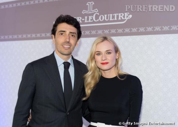 Philippe Bonay le président de Jaeger-Lecoultre USA et Diane Kruger.