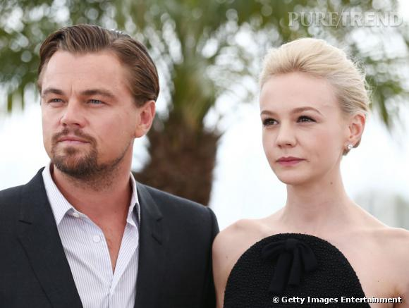 """Leonardo DiCaprio et Carey Mulligan à Cannes, pour promouvoir """"Gatsby le Magnifique""""."""