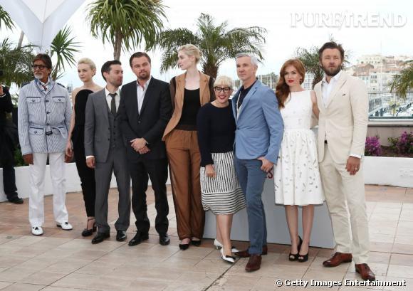 """Une partie de l'équipe du film """"Gatsby le Magnifique"""", au 66ème Festival de Cannes."""