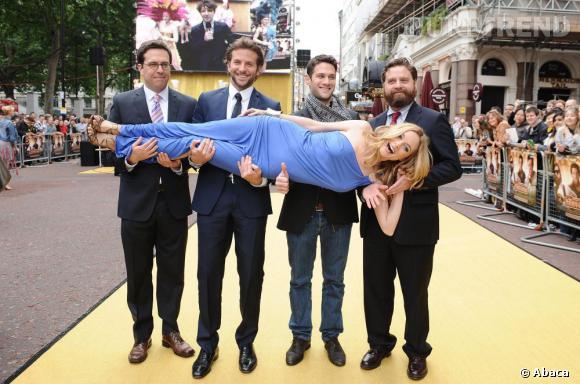 """Ed Helms, Bradley Cooper, Justin Bartha et Zach Galifianakis ne fouleront pas la croisette pour promouvoir la comédie """"Very Bad Trip 3""""."""