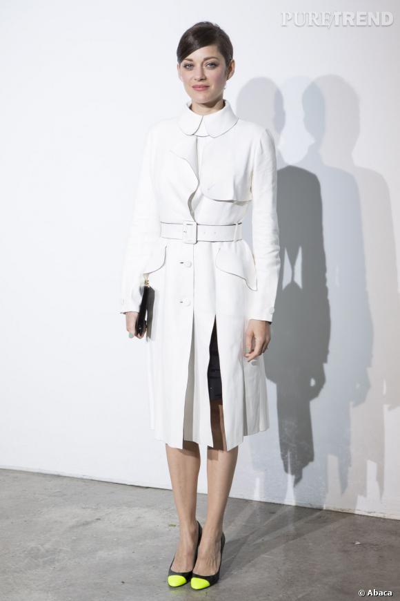 Marion Cotillard à la présentation de la collection Croisière 2014 Dior.