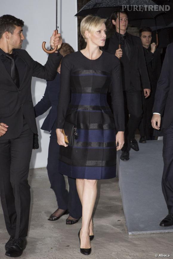 Charlène de Monaco à la présentation de la collection Croisière 2014 Dior. c683cc422dfe