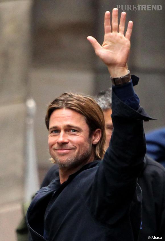 Brad Pitt, pas très à l'aise en public ? On lui pardonne !