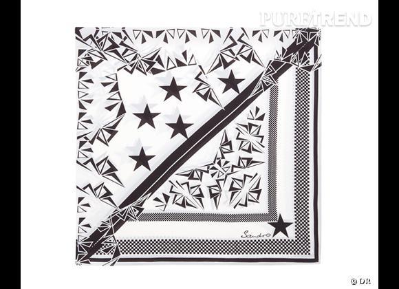 Tendance maxi foulard Printemps-Eté 2013 : le bon shopping     Foulard Sandro, 95 €