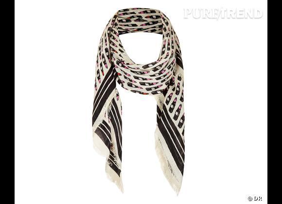Tendance maxi foulard Printemps-Eté 2013 : le bon shopping     Foulard Topshop, 21 €