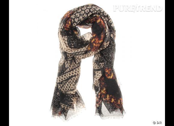 Tendance maxi foulard Printemps-Eté 2013 : le bon shopping     Foulard Alexander McQueen, 475 € sur  Mytheresa.com