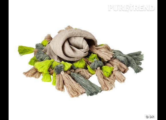 Tendance maxi foulard Printemps-Eté 2013 : le bon shopping     Foulard H&M, 39,95 €