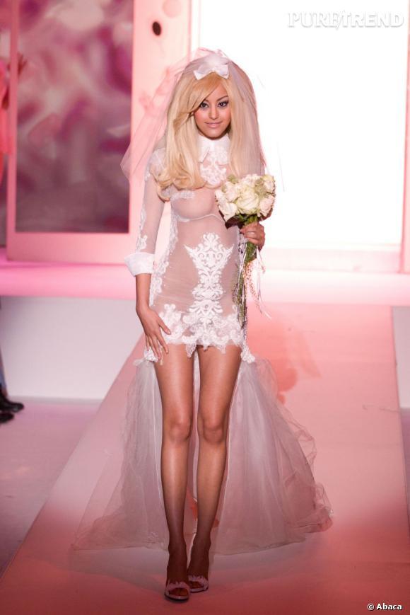 Le défilé lingerie Couture de Zahia Automne-Hiver 2013.