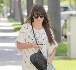 Lea Michele, la laine casual du printemps... A shopper !