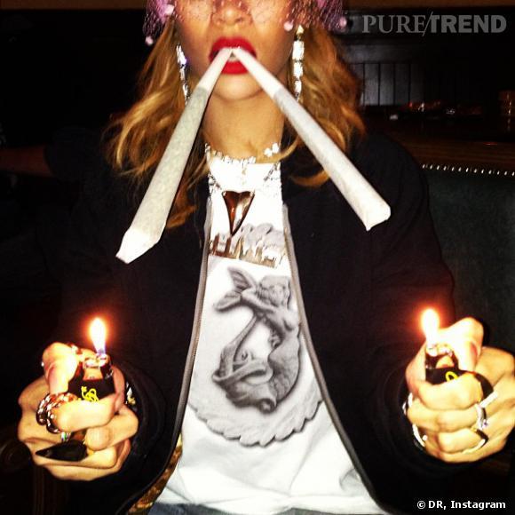 Rihanna profite pleinement de son passage à Amsterdam.
