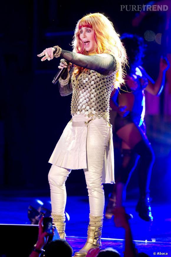 Cher, une allure terrifante à la Gay Pride new-yorkaise.