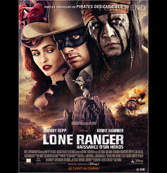 """Le film :  """"Lone Ranger"""".    Le pitch  : Tonto, guerrier indien, raconte l'histoire méconnue qui a transformé John Reid, un ancien défenseur de la loi, en un justicier légendaire. Ces deux héros à part vont devoir apprendre à faire équipe pour affronter le pire de la cupidité et de la corruption.    La date de sortie :  7 août 2013."""