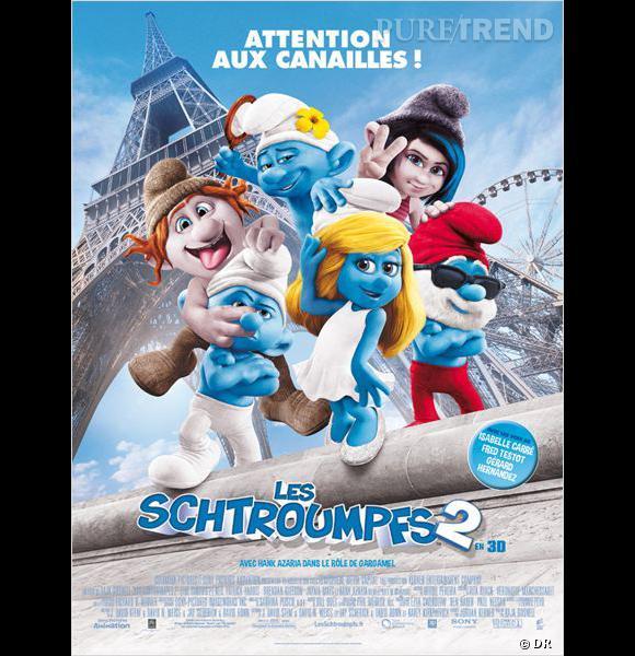 """Le film :  """"Les Schtroumpfs 2""""    Le pitch  : La suite des aventures des Schtroumpfs...    La date de sortie  : 31 juillet 2013."""