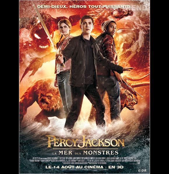 """Le film  : """"Percy Jackson, la mer des monstres"""".    Le pitch :  Percy Jackson, fils de Poséidon, poursuit ses aventures épiques afin d'accomplir sa destinée. Aidé de ses amis, demi-Dieux comme lui, il part à la recherche de la toison d'or...   La  date de sortie :  14 août 2013."""