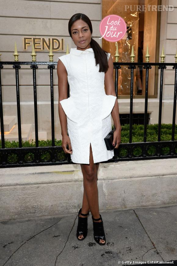 Naomie Harris lors de la soirée Fendi à Paris.