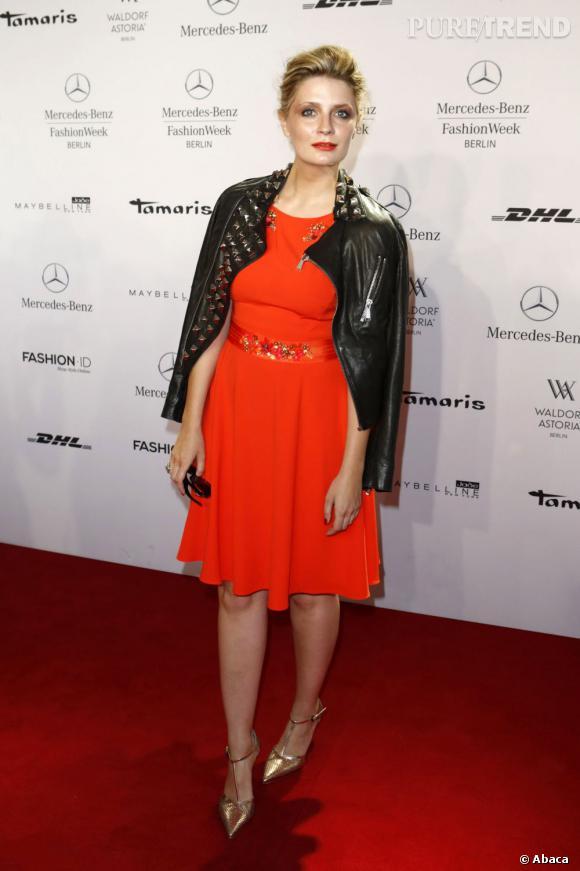 Mischa Barton à la Fashion Week de Berlin.