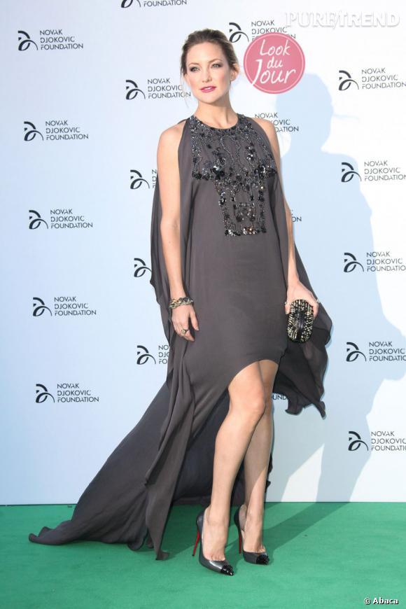 Kate Hudson au gala de charité de la Novak Djokovic Foundation à Londres.