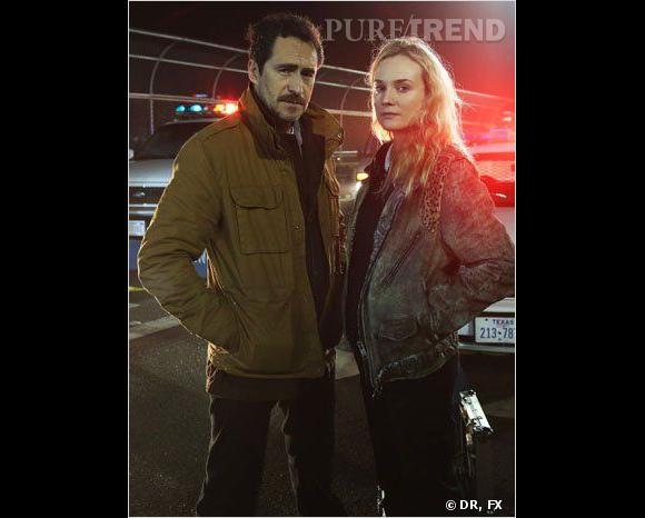 Diane Kruger fait équipe dans la série avec Demian Bichir, alias Marco Ruiz.
