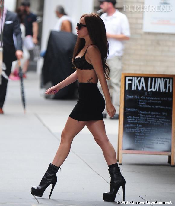 Lady Gaga dans les rues de New York.