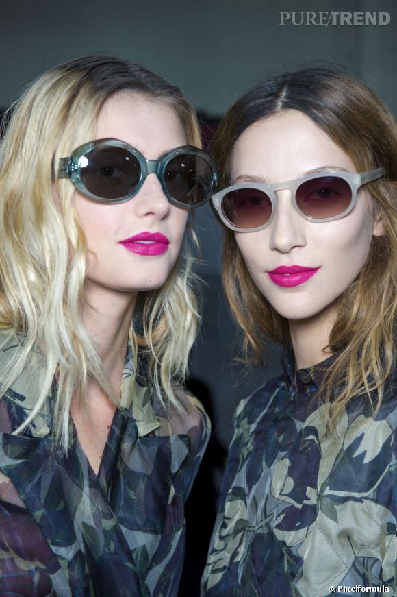 Quelles lunettes de soleil avec mon rouge à lèvres ?Du rose pop avec des couleurs soft.
