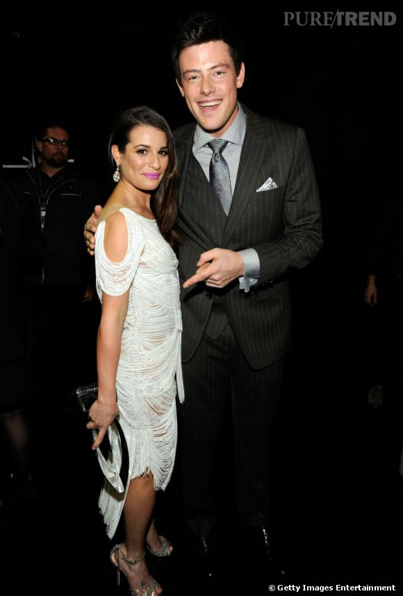 Lea Michele et Cory Monteith aux People's Choice Awards 2012.
